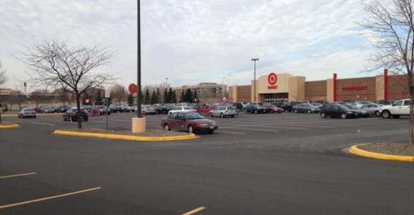 Target, St. Louis Park MN. Overbuilt on the busiest parking day of the year.
